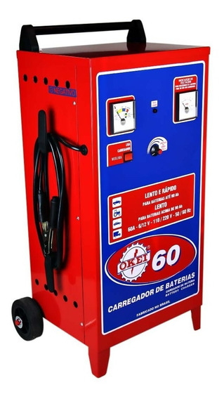 Carregador De Bateria Rápido E Lento 90ah Sem Auxiliar De Pa