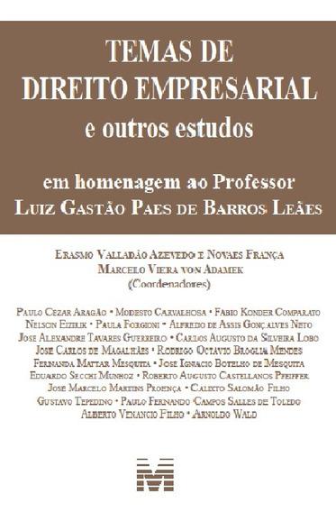 Temas De Direito Empresarial - Hom. Luiz Gastão/14