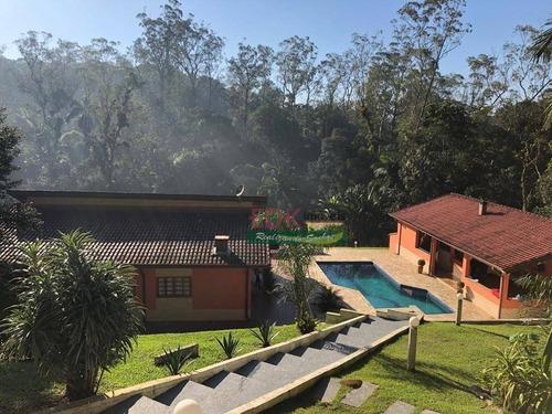 Imagem 1 de 29 de Chácara Com 3 Dormitórios À Venda, 2300 M² Por R$ 848.000,00 - Santa Luzia - Ribeirão Pires/sp - Ch0822