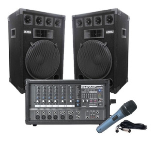 Consola Phonic 620p 7 Canales 400w + 2 Bafles 15 + Accesorios - Cuotas