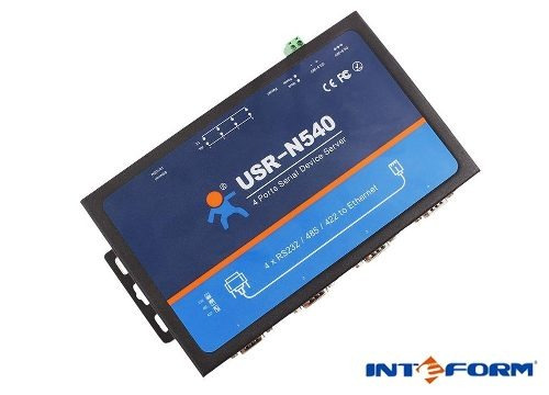 Conversor Quatro Portas Rs232/485/422 Para Ethernet Usr-n540