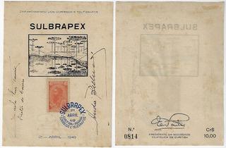1949 Folhinha Autorizada 13 Exposição Sulbrapex Paraná