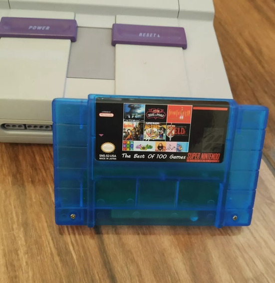 Cartucho Fita Multi Jogos Para Super Nintendo Snes