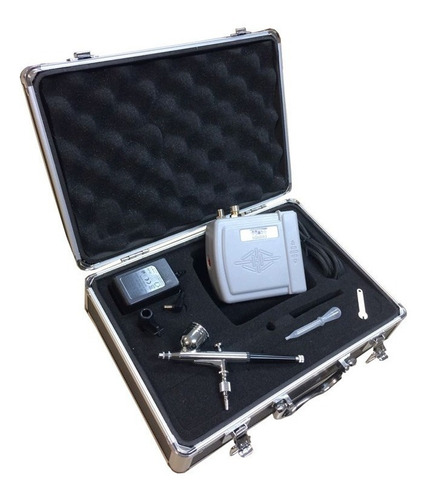 Kit Aerografo Mini Compressor + Aerógrafo 0,3mm + Maleta