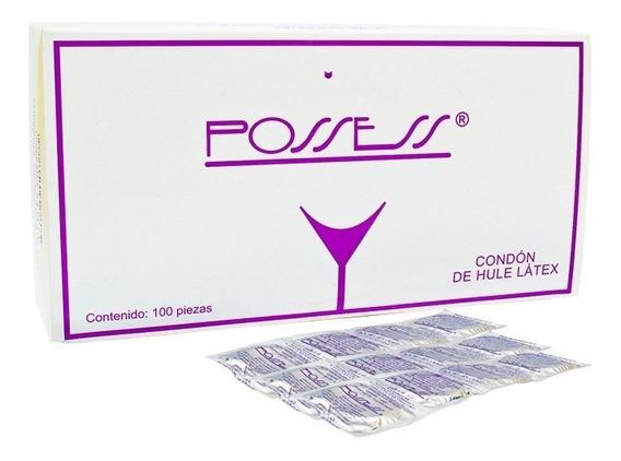 100 Condones Possess Lubricados Latex Natural Cad 2024
