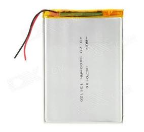 Bateria Tablet 3000mah 3.7v 2 Fios Original