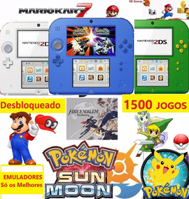Nintendo 2ds + 1500 Jogos + 3ds + 32gb + Emuladores +brindes