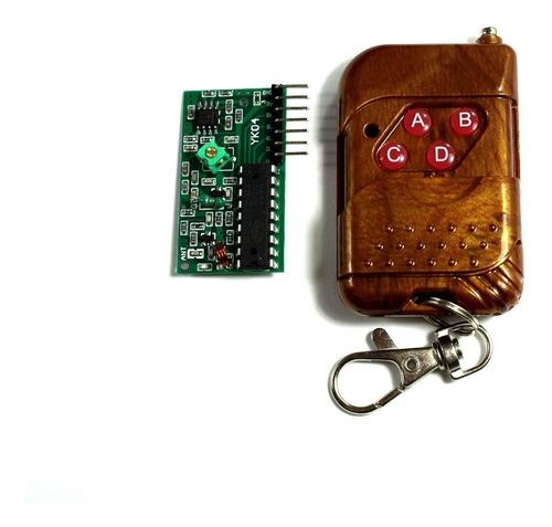 Kit Control Remoto Y Receptor Rf 315 Mhz De 4 Canales
