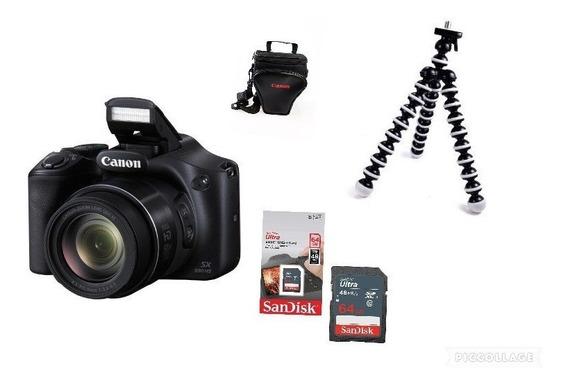 Câmera Digital Canon Powershot Sx530 Hs +64gb+ Bolsa +tiripé