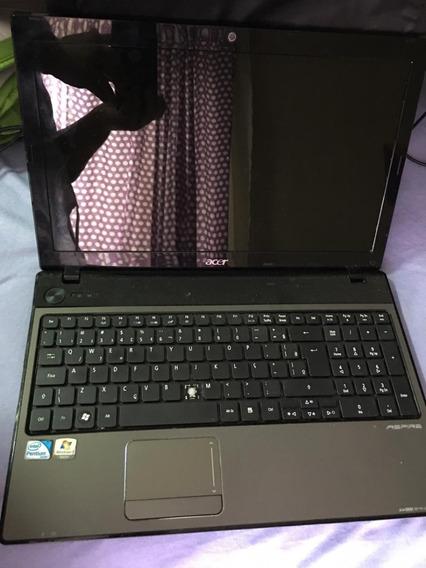 Notebook Acer (com Defeito) Aspire 5741 New70 15,6 Pol