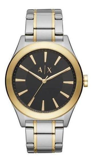 Relógio Armani Exchange Clássico Ax2336 Masculino Bicolor