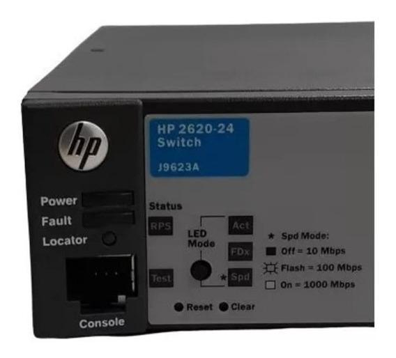 Switch Hp 2620-24 | J9624a | Ppoe+ | 10/100 | 2 Gig-t 2 Sfp