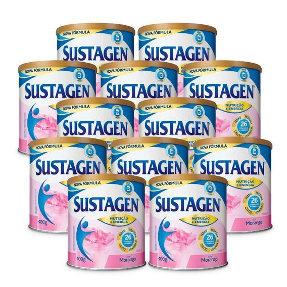 Sustagen Complemento Alimentar 400g Morango - 12 Unid.