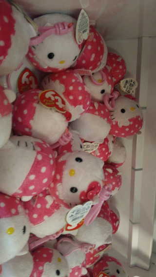 Pelucia Ty Chaveiro Hello Kitty Bolinha Clip Dtc 10pçs