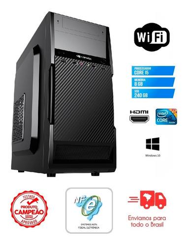 Imagem 1 de 5 de Cpu Computador Pc Intel Core I5-3470 8gb Ssd 240gb + Wifi Pc