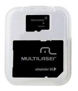 Adaptador Multilaser Sd + Cartao De Memória Classe 10 16gb -