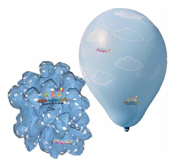 Globos Látex Nubes 25 Pzs Clouds Toy Story Baby Bautizo