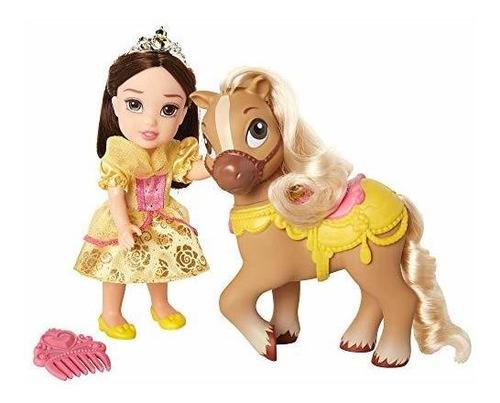 Imagen 1 de 8 de Princesas De Disney Belle Petite Doll Y Pony