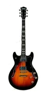 Leonard Jz33sb Guitarra Electrica Caja Tipo Jazz 345