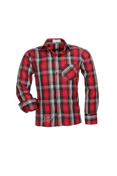 Camisa Infantil Alfa Tecido Misto Xadrez Junino - Cor 02 -