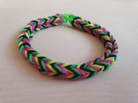 Pulseira Elastico 18 - Rainbow Loom 6 Unidades Coloridas