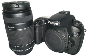 Câmera Canon 60d Semi Nova Ótima Condição + Lente 55-250mm