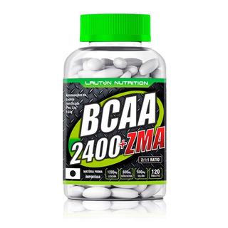 Bcaa + Zma 2400mg 120 Caps - Lauton Nutrition
