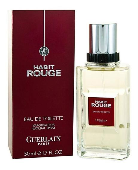 Perfume Habit Rouge Guerlain Edt 50ml Original! (lote 2012)