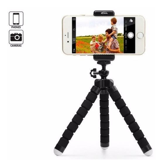 Mini Tripe Flexível Universal Octopus Para Celular E Câmeras
