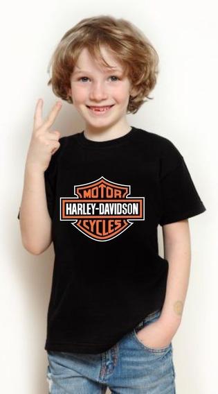 Camiseta Infantil Harley Davidson 1 A 12 Anos