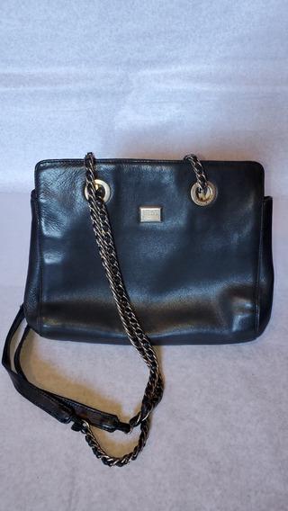 Cartera Vintage Retro - Cuero Negra Azulada.