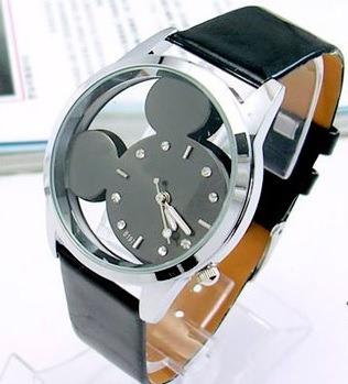 Relógio Feminino De Pulso Mickey Mouse Transparente