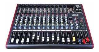 Mixer Pro Dj Ch-12 Usb Consola Pasiva Mezclador Bluetooth
