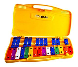 Xilofóno Metalófono Carillón Escolar Niños 25 Notas Aprendo