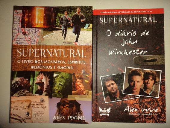 Lote Supernatural Winchester E O Livro Dos Monstros Excelent