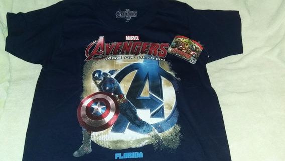 Remera Mangas Cortas Niño Marca Marvel Avengers