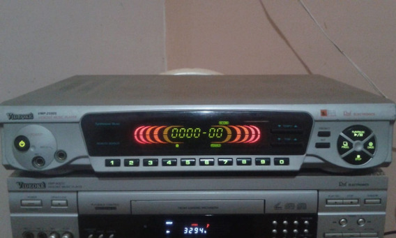 Videoke 2500s Sem Controle E 2 Cabos De Audio E Video