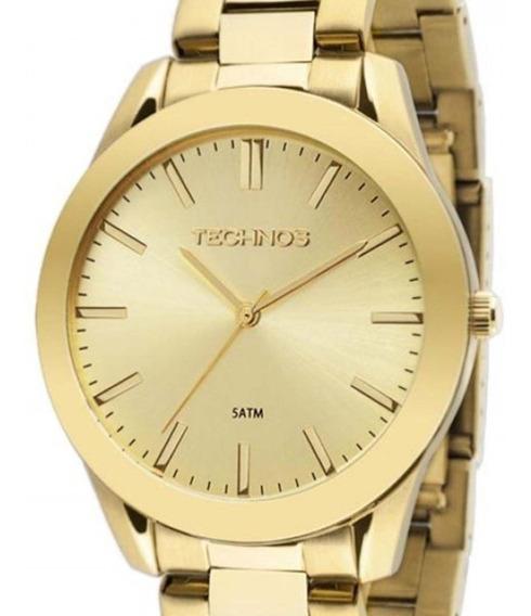 Relógio Technos Classic Steel Feminino Dourado 2035lrp/4x C/ Nfe