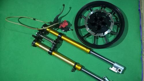 Suspensión Moto Invertida Con Sistema De Freno  Rin