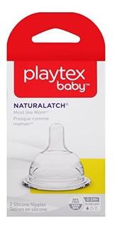 Playtex Naturalatchnipple, Flujo Lento, 2 Conteos