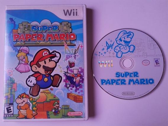 Wii: Super Paper Mario Americano Completo! Novinho! Jogaço!