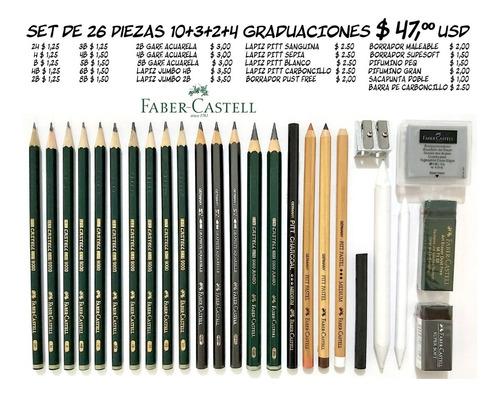 Imagen 1 de 3 de Faber Castell Combo De 26  Piezas / Grafitos Y Carboncillos