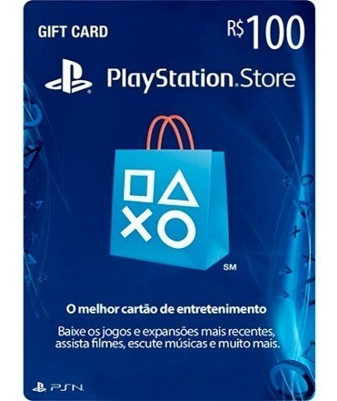 Cartão Psn 100 R$ Reais Card Playstation Brasil Ps4 Ps3