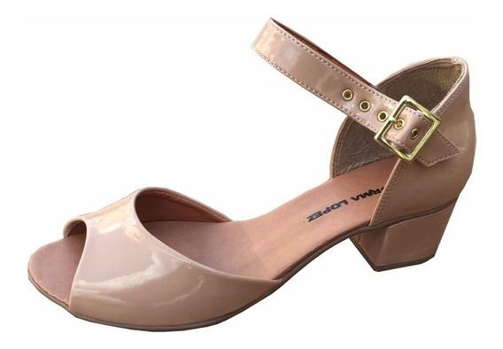 Sandália Norma Lopez Salto 4cm Quadrado Lançamento