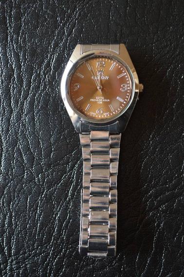 Relógio Masculino Marrom Orimet Pequeno Qualidade Classico