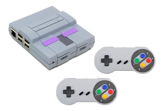 Vídeo Game Retro Snes 3d Raspberry 10.257 Jogos 2 Controles