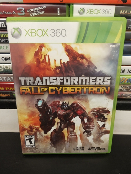 Transformers Fall Of Cybertron Xbox 360 Raro Impecável