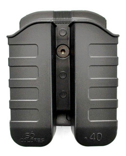 Porta Carregador Duplo 9mm-.40- Polímero
