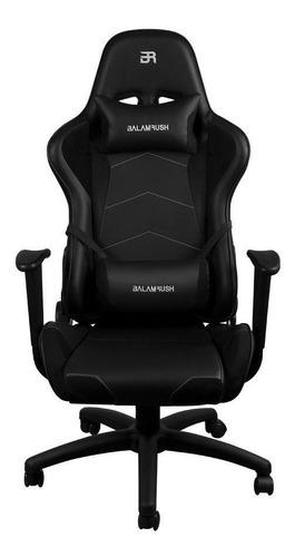 Imagen 1 de 5 de Silla de escritorio Balam Rush Thunder Rush gamer ergonómica  negra con tapizado de poliuretano
