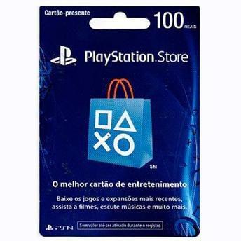 Cartão Presente Playstation Store R$ 100 Reais Psn Brasil Br